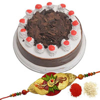 Rakhi &  Blackforest Cake