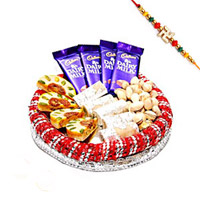 Sweets Tray with Rakhi