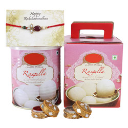 Rakhi with & Rasgulla