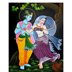 Lord Krishna with Radha.