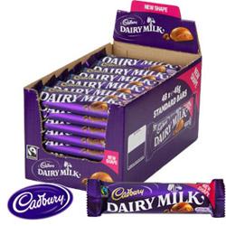 Cadbury Dairy Milk.