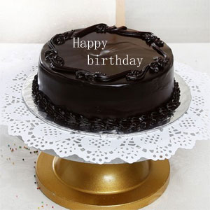 Half Kg Round Chocolate Cake With Stars Topping Order Now