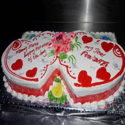 2 Kg Engagement cake to Kakinada
