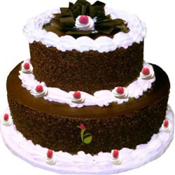 2 Tier Chocolate Cake  to Kakinada
