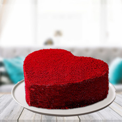 Red Velvet Heart Cake 1.5kg to Kakinada