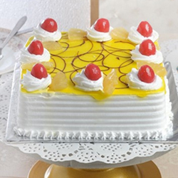 Square Pineapple Cake  2 Kg to Vizag