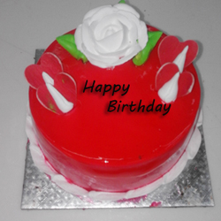 Strawberry  cake 500 Gms  to Guntur