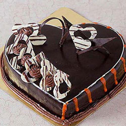 Chocolate Truffle Heart 2kg to Vizag