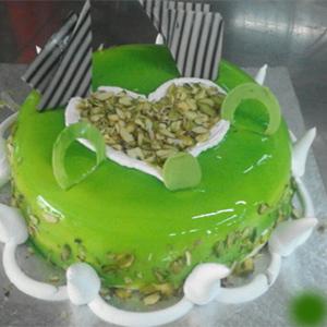 Eggless Pista cake