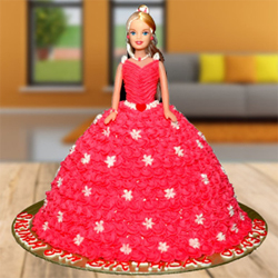 Black Forest Barbie Doll Cake to Vizag