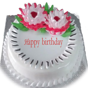 1 Kg Birthday Cake Round Premium Pineapple Order Now