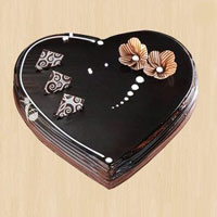 Heart shape chocolate  to Kakinada