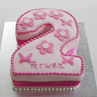 2 Number Cake - Vanilla to Vizag
