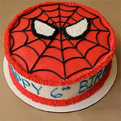 Creamy Spiderman cake to Vizag