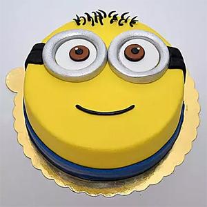 Minion Smiling Fondant cake