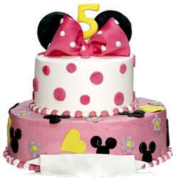Minnie Mouse 2 tier Cake 3kg to Vizag