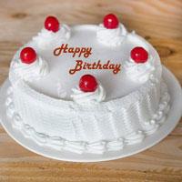 Yummy Vanilla 1kg  Cakes to vijayawada