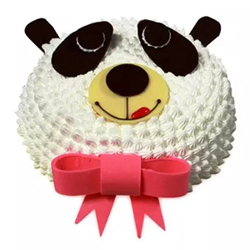 1.5kg Vanilla Round Panda Cake 