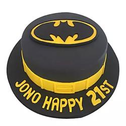 Batman Fondant Cake 2kg to Rajahmundry