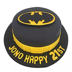 Batman Fondant Cake 2kg to Vizag