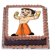 2kg Chota Bheem black forest Cake.