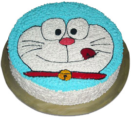 2kg  Doraemon cartoon shaped chocolate cake.