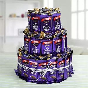Three Layer Chocolaty Wishes to Kakinada
