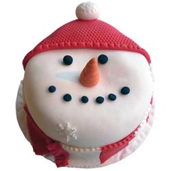 Happy Snowman Cake