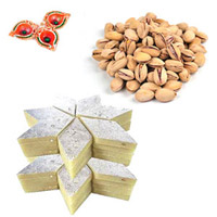 Kaju Barfi & Pista Hamper with Diyas