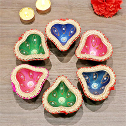 6pcs Diya Set