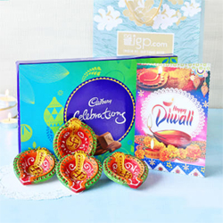 Diya Set with Cadbury Celebrations