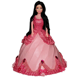 Pink Dress Barbie Cake 3kg