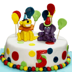 Lion And Elephant Cake