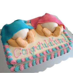 Twins Baby Cake 3kg