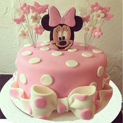 Minnie Mouse Fondant Cake 3kg