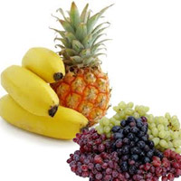 pineapple with Grapes