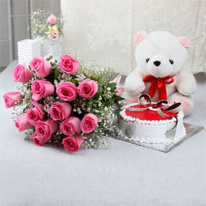 Roses & cake