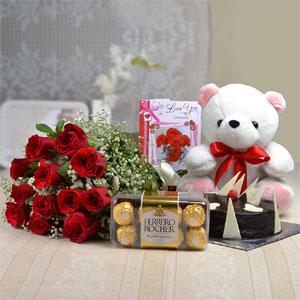 Cake & roses