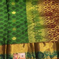 Green colour Saree