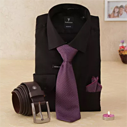 Shirt With Tie & Belt Hamper