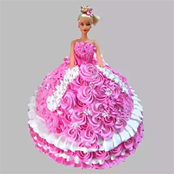 Barbie Doll cake to Kakinada