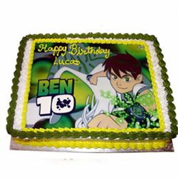 Ben 10 photo cake 2kg  to Rajahmundry