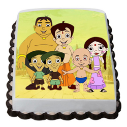 2kg Chota Bheem friends photo cake