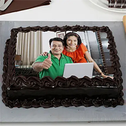 Chocolate Truffle Photo Cake 1kg to Rajahmundry