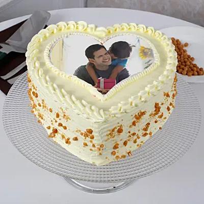 Butterscotch Heart Shaped Cake 1kg