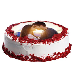 Red Velvet Photo Cake 1kg to Rajahmundry