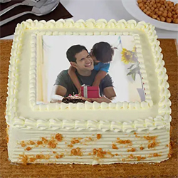 1kg Butterscotch Photo Cake
