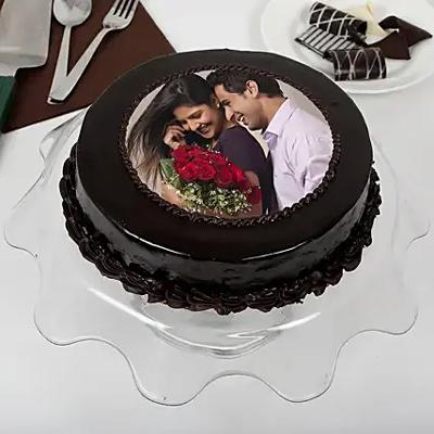 1kg Chocolate Photo Cake