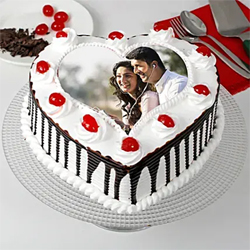 1kg Black Forest Photo Cake