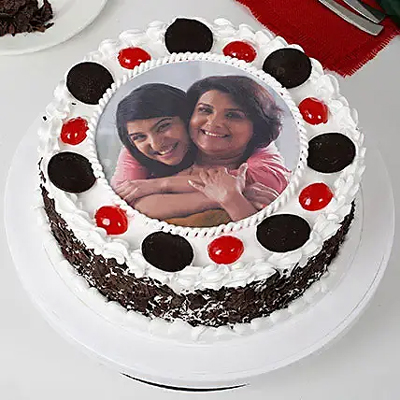 1kg Black Forest Photo Cake